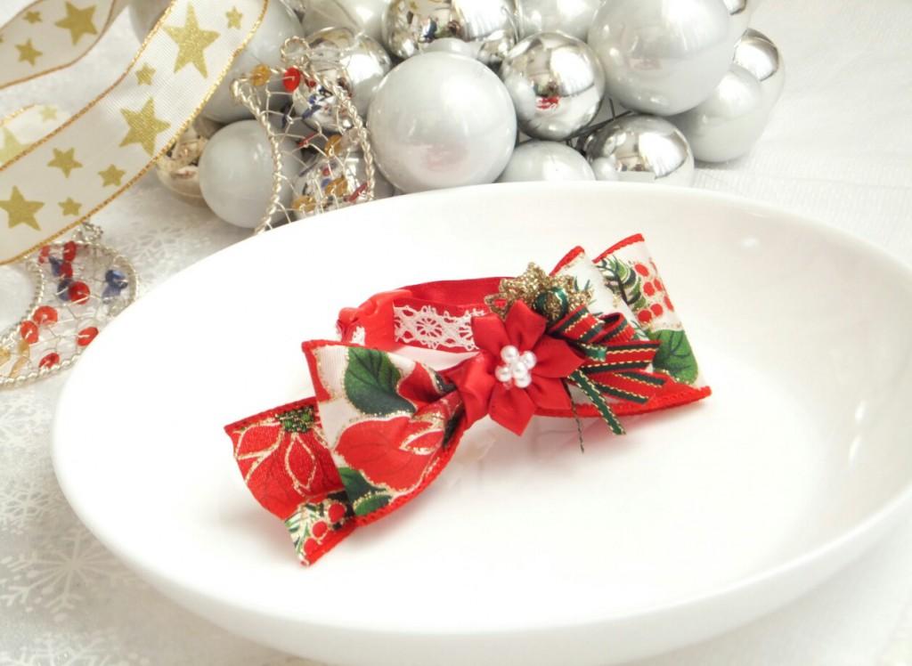 [受注制作]猫の首輪 クリスマス 赤