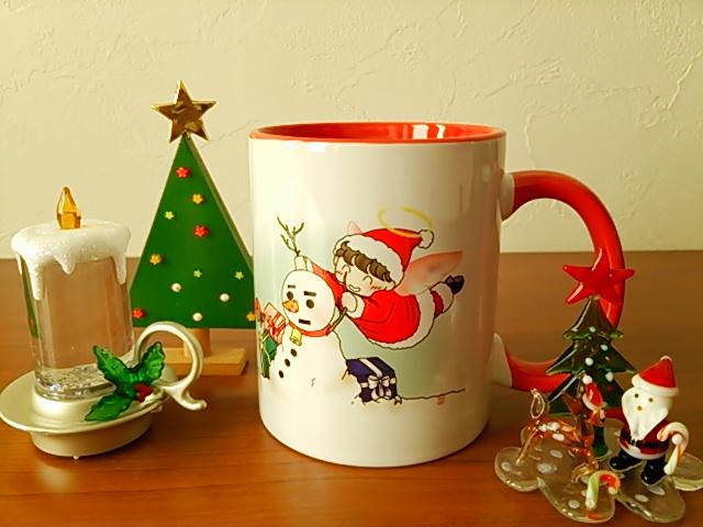 サンタ天使ちゃんのマグカップ