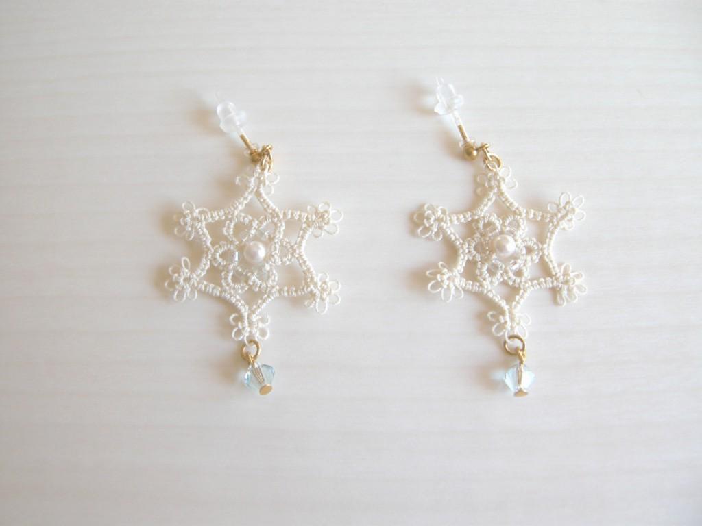 タティングレース 雪の結晶