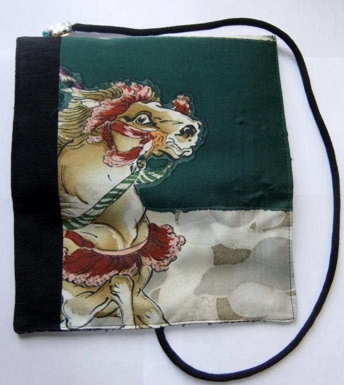 着物リメイク 男の子のお宮参り着で作った和風財布 940