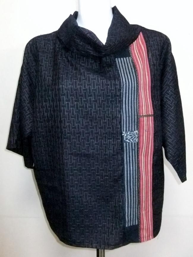 着物リメイク 正絹の着物で作ったプルオーバー 951
