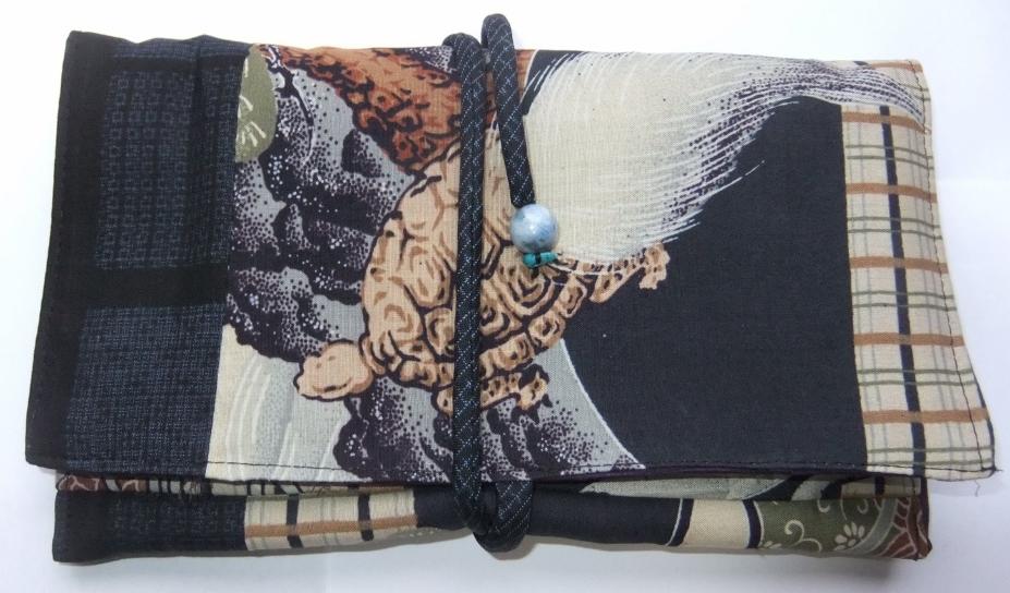 着物リメイク 長襦袢で作った和風財布 962