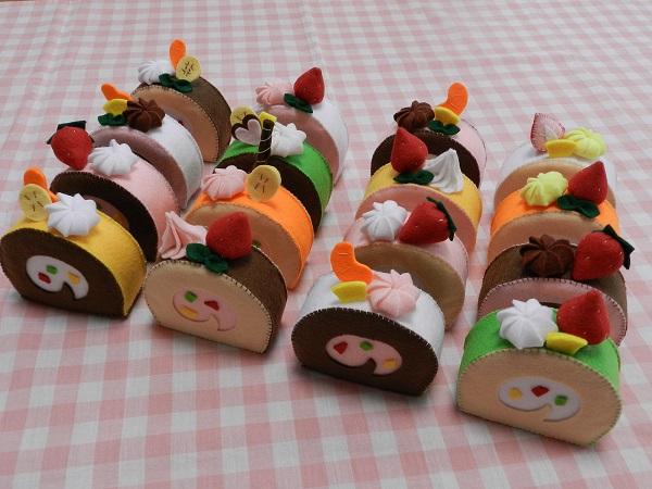 フェルト ままごと 【ケーキ3個セット】