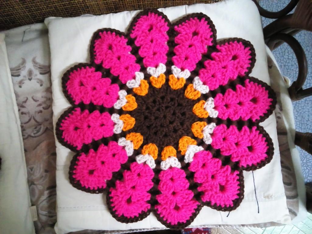 お花のシートクッション(ピンク)