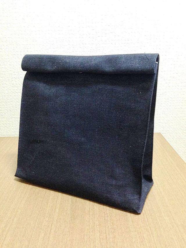 紙袋クラッチバッグ 大サイズ 児島産 生デニム