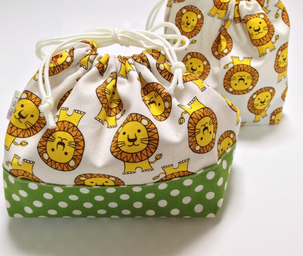 ガオーっライオン柄お弁当袋&コップ袋セット