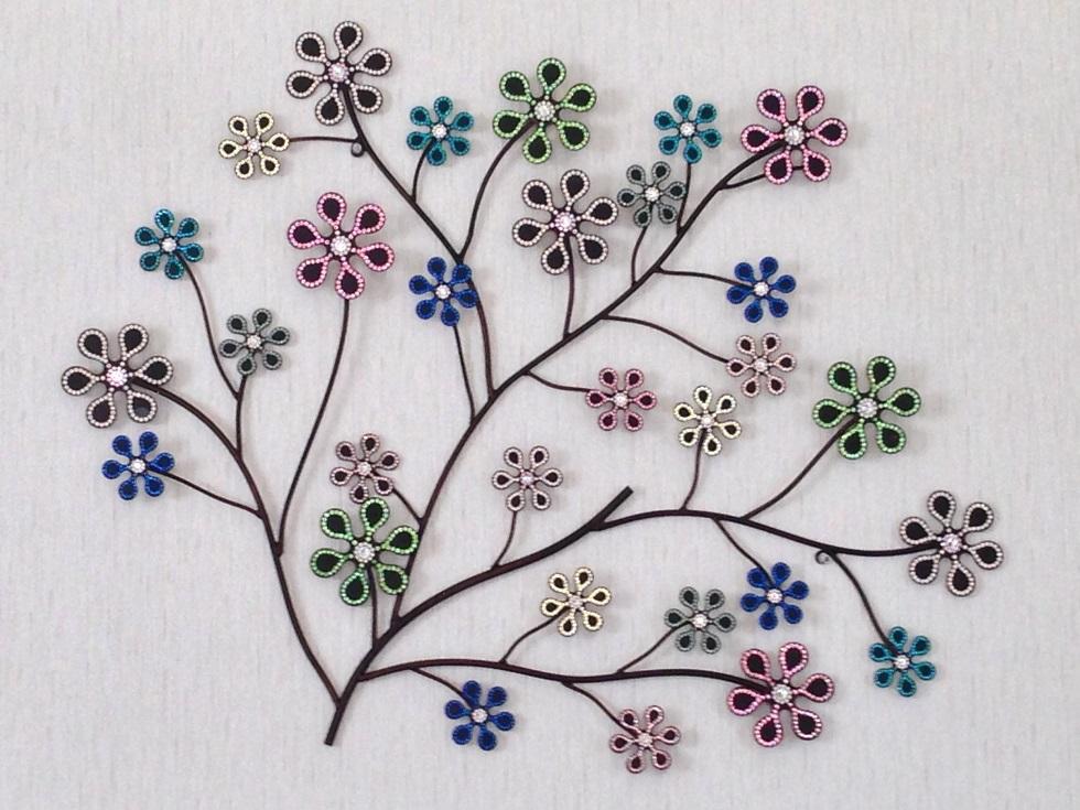 輝く花の壁飾り☆スワロフスキーエレメント