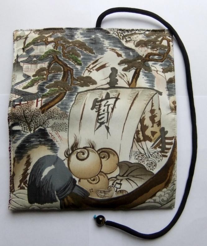 着物リメイク 帯で作った和風財布 969