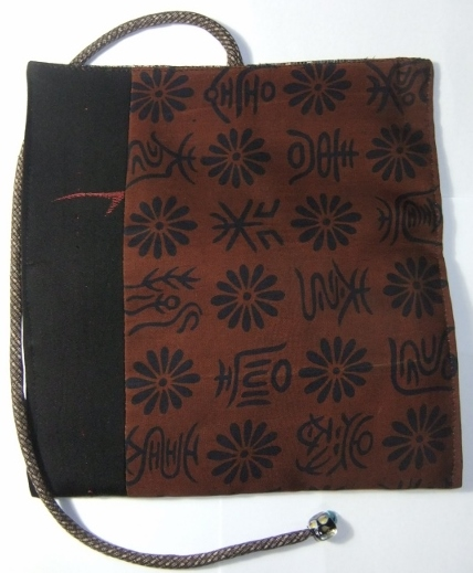 着物リメイク 帯と漆織りの着物で作った和風財布 998