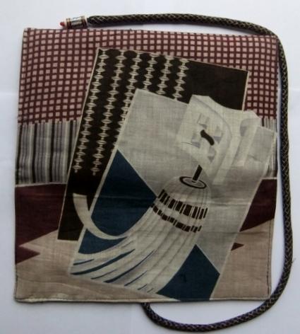 着物リメイク 羽織の裏地で作った和風財布 1008
