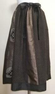 着物リメイク 西陣帯と絞りで作った和風財布 1030
