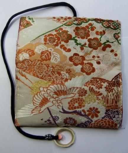 着物リメイク 帯で作った和風財布 1036