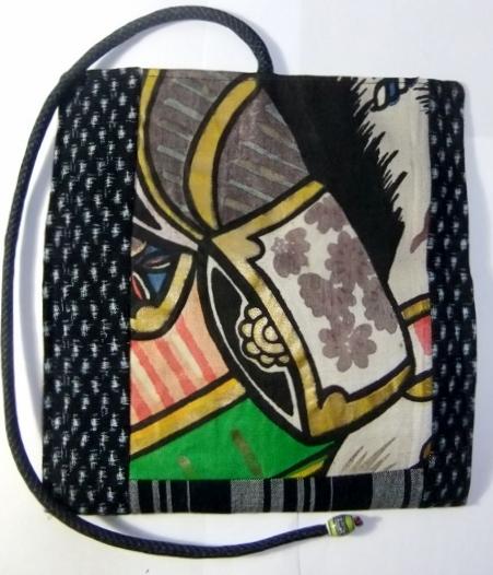 着物リメイク 五月旗と男絣と唐桟縞の着物で作った和風財布 1040