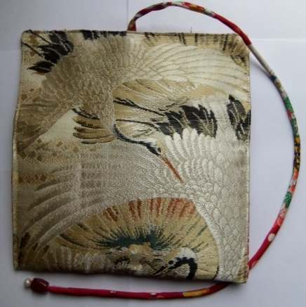 着物リメイク 丸帯で作った和風財布 1046