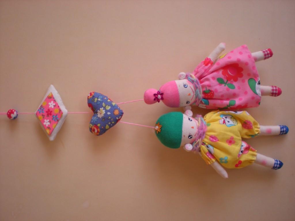 布人形 変わり雛❀仲良し