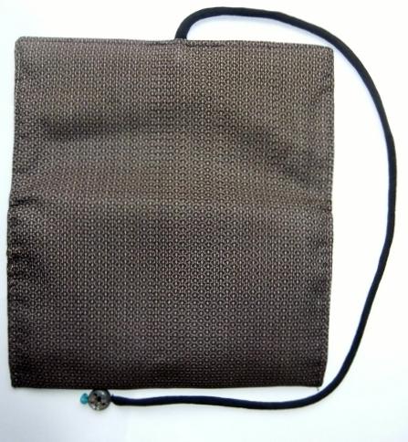 着物リメイク 大島紬で作った和風財布 1050