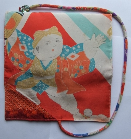 着物リメイク 絞りと羽織の裏地で作った和風財布 1063