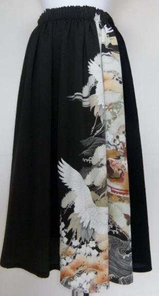 着物リメイク 色留袖で作ったスカート 1068