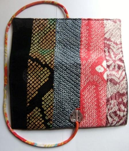 着物リメイク 絞りの羽織で作ったタブレット入れ 1076