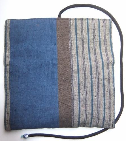 着物リメイク 土佐紬で作った和風財布 1111