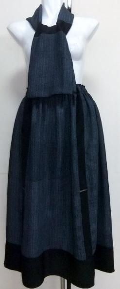 着物リメイク 正絹の着物で作ったマフラー付きスカート 1115