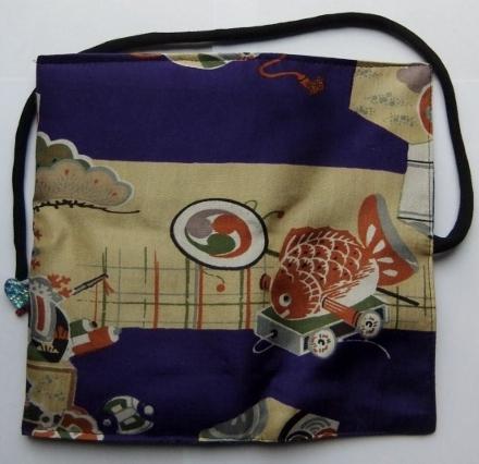 着物リメイク 男の子のお宮参り着で作った和風財布 1123