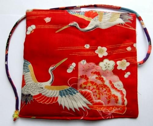 着物リメイク 女の子の着物で作った和風財布 1167