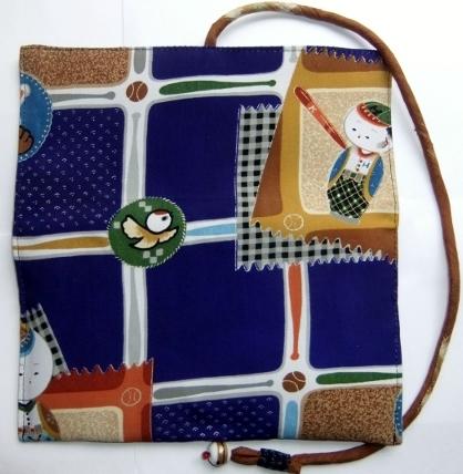 着物リメイク 男の子の着物で作った和風財布 1192