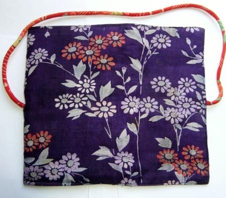 着物リメイク 花柄の着物で作った和風財布 1219