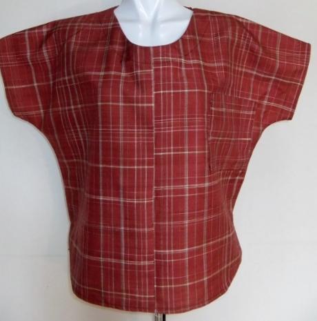 着物リメイク 綿の着物で作ったTシャツ 1329