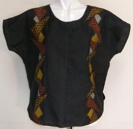 着物リメイク 銘仙の着物で作ったTシャツ 1359