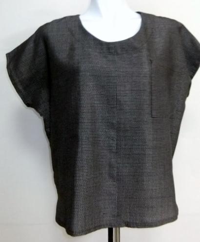 着物リメイク 綿大島で作ったTシャツ 1361