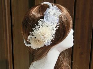 HR-51 カスミ草と小花の髪飾り ヘアードレス