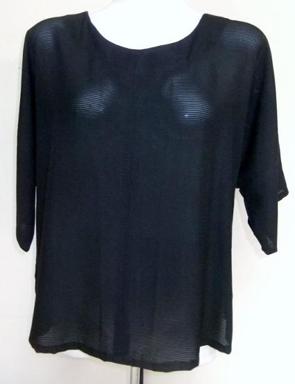 着物リメイク 絽の着物で作ったTシャツ 1394