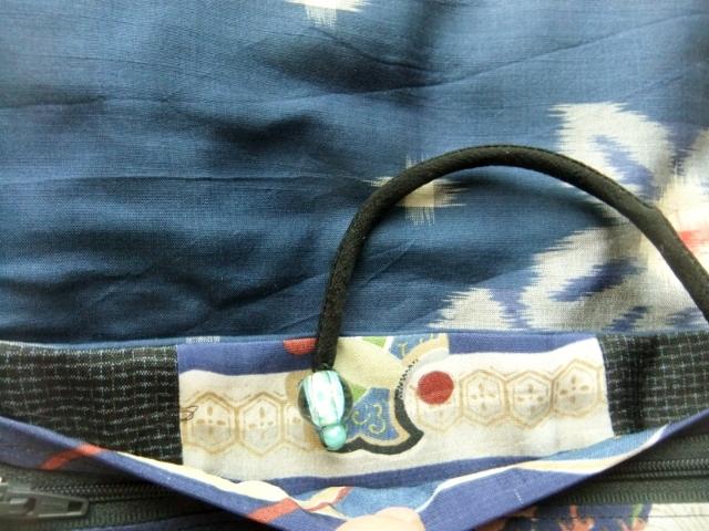 着物リメイク 男の子のお宮参り着で作った和風財布 1439