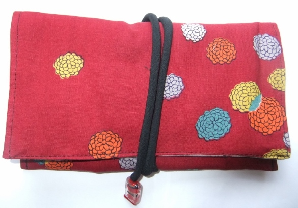 着物リメイク 花柄の着物で作った和風財布 1445