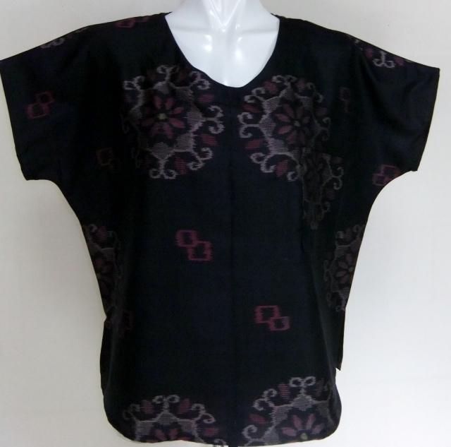 着物リメイク 銘仙の着物で作ったTシャツ  1448