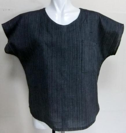 着物リメイク 細縞の着物で作ったTシャツ 1474