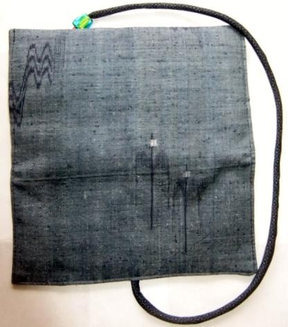 着物リメイク 琉球紬で作った和風財布 1518