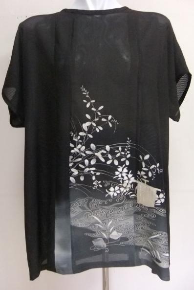 着物リメイク 絽の色留袖で作ったプルオーバー 1534