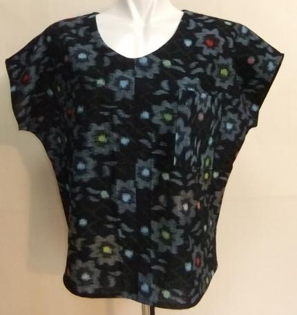 着物リメイク 絣の着物で作ったTシャツ 1562