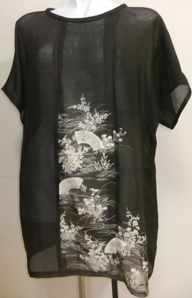 着物リメイク 絽の色留袖で作ったプルオーバー 1565