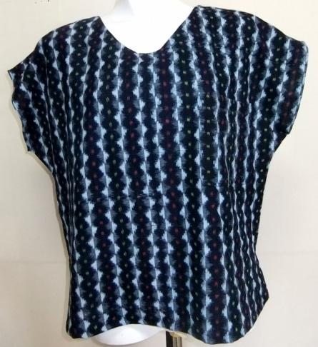 着物リメイク 絣の着物で作ったTシャツ 1595