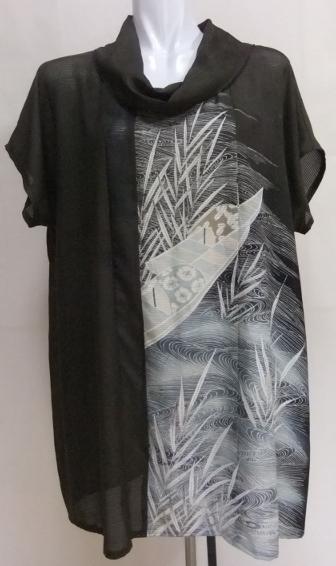 着物リメイク 絽縮緬の色留袖で作ったチュニック 1613