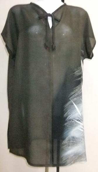 着物リメイク 絽の色留袖で作ったチュニックワンピース 1669