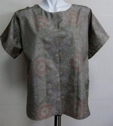 着物リメイク 色大島で作ったシャツ 1691
