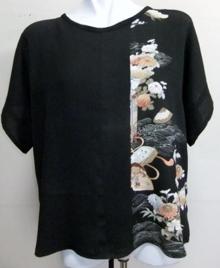 着物リメイク 色留袖で作ったシャツ 1697