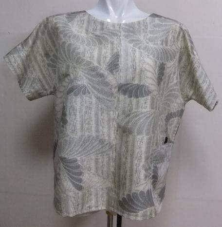 着物リメイク 色大島で作ったシャツ  1710