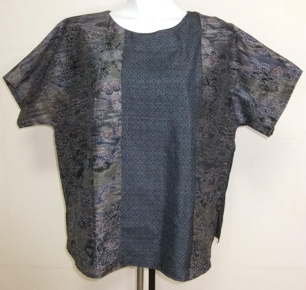 着物リメイク 着物で作ったシャツ 1725