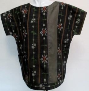 着物リメイク 絞りとこけし柄の着物で作った巾着袋 1855